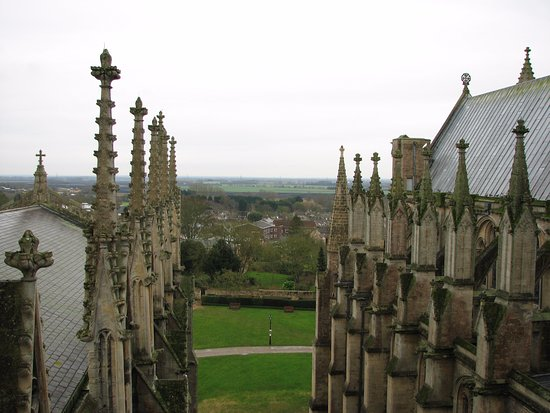 Ely, UK: View from the roof. (TX Tickets required).