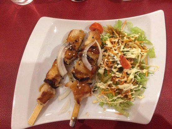 Oudenaarde, Bélgica: voorgerecht met kip