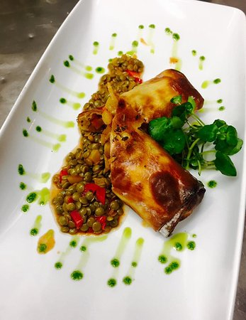 Sydenham, UK: Vegetable strudel with puy lentils