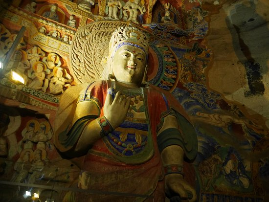 Datong, China: Buddha peint