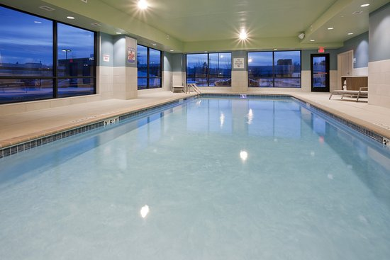 The Holiday Inn Express in Roseville, MN has a fun indoor pool!