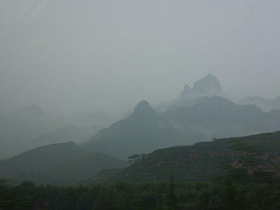 Wutai County, Kina: Route en arrivant à Wutaishan
