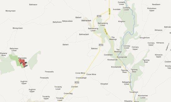 Macreddin Village, أيرلندا: Map