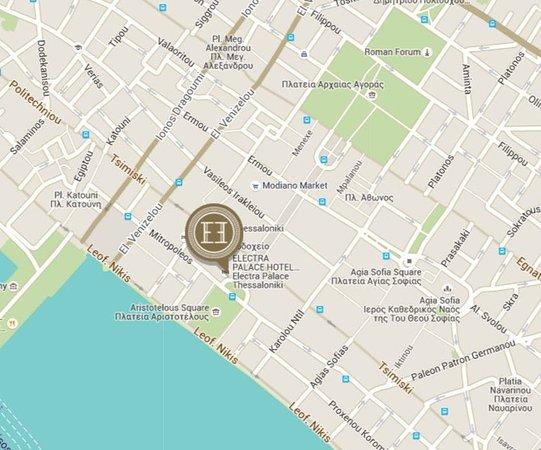 Electra Palace Thessaloniki: Map