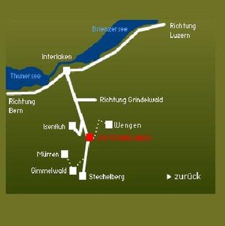 Hotel Staubbach Map Picture of Hotel Staubbach Lauterbrunnen