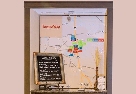 Shenandoah, تكساس: TowneMap