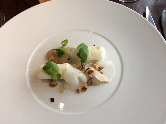 Usk, UK: Goat's cheese mousse Starter