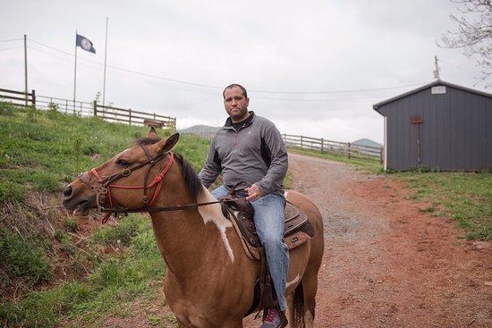 Elkton, VA: My husband and his horse