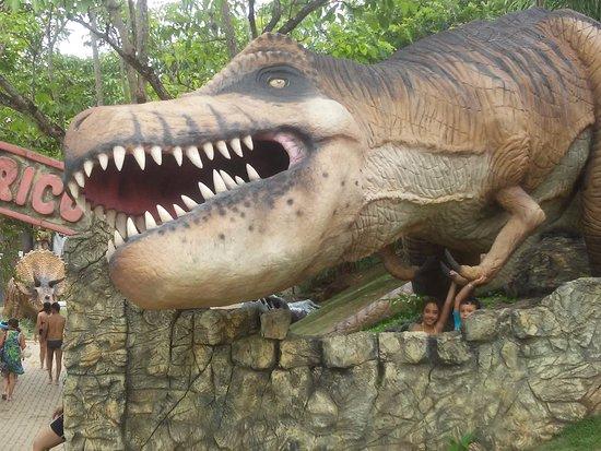 Thermas Water Park: Área infantil com Dinossauros: as crianças adoram