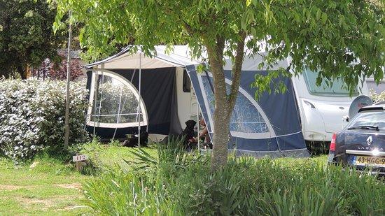 Herault, Francia: Emplacement caravane camping Domaine de Gajan