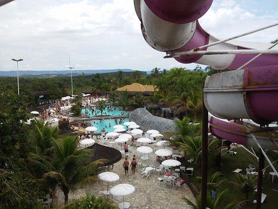 Thermas Water Park: Vista do alto de toboágua