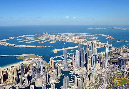 Dubai Marriott Harbour Hotel & Suites: Aerial View