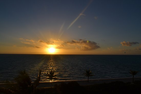 Long Bay Beach, Providenciales: sunrise from he balcony