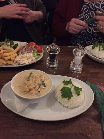 Hythe, UK: Thai Green Curry & Rice