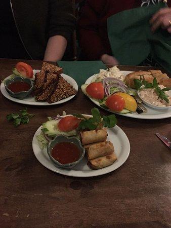 Hythe, UK: Veggie Spring Rolls, Pork Toasts & HUGE prawn salad!