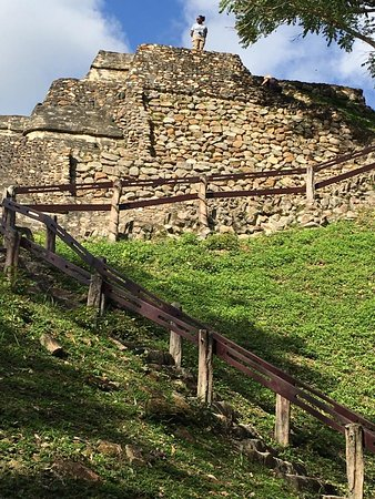Baka Bush Tours - Day Tours: Altun Ha - the largest building you get to climb...