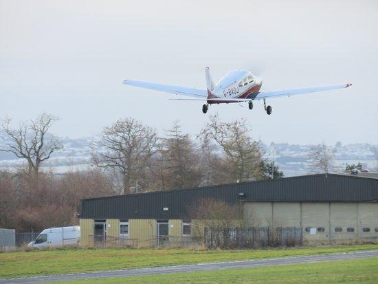 Glenrothes, UK: plane taking off