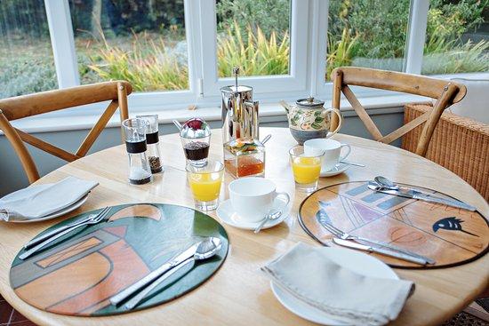 Boscastle, UK: Breakfast in the conservatory