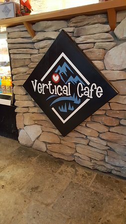 Vertical Cafe: the counter at the vertical
