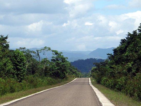 Nim Li Punit (Big Hat): Drive Enroute to Nim Li Punit - Maya Mountain Range