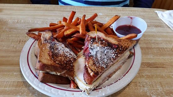 King's: Monte Cristo on Raspberry Bread