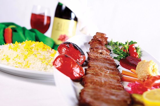 Santee, CA: Brag kabob One Skewer of Lamb Tender, Marinated with Onion, Oil & Houses Spice and Grilled veggi