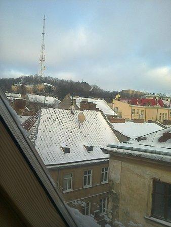"""Отель """"Reikartz Медиваль"""": вид из окна мансардного номера (503)"""