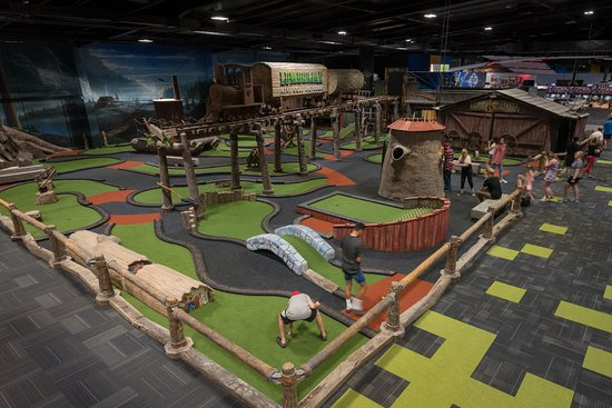 Lumberjax mini golf set in a 1850\'s Logging town - Picture of ...
