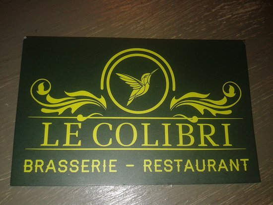 Brasserie Le Colibri Carte De Visite