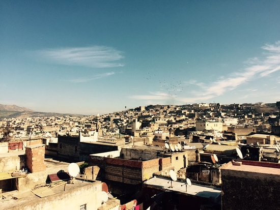 Riad Dar Guennoun: The Medina Fez from the Dar's sunny terrace