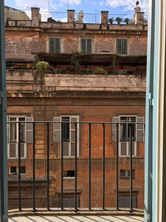 Hotel De Russie: View from my window. I LOVED it! Looked like a magazine cover. So Italian!