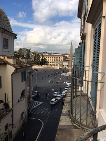 Hotel De Russie: This is what I saw when I looked to the right out my window. Piazza del Popolo.