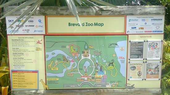 Map Of Florida Melbourne.Zoo Map Picture Of Brevard Zoo Melbourne Tripadvisor