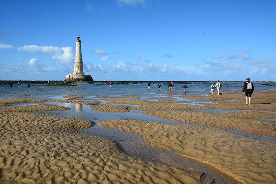Phare de Cordouan : traversée agréable du banc de sable