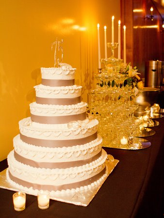 Pittston, PA: Mouth-watering 6 tier cake at The Gramercy's 75th Anniversary Celebration.