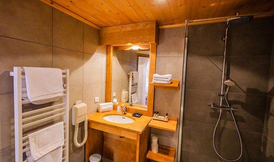 Hotel-Residence Le Merilys: Salle de douche à l'italienne pour accès PMR