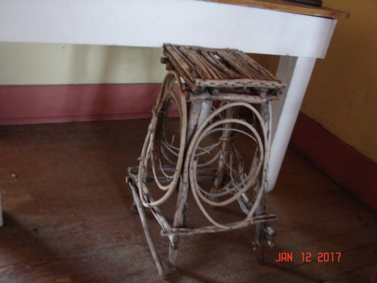 Sierra Vista, AZ: A stool constructed entirely of sticks and twigs.