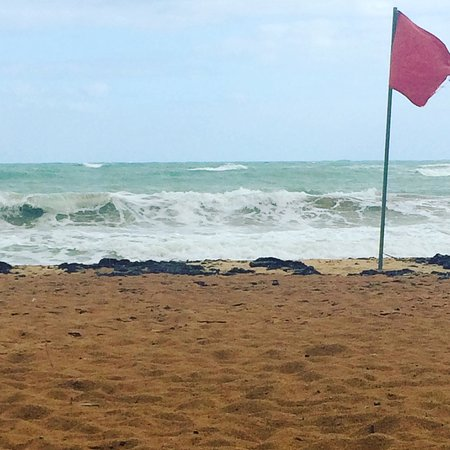 Playa Azul: Let the traveler beware! Strong winds and violent waves have caused significant beach erosion at