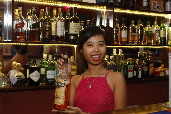 The Rabbit Hole Irish Bar: Hoa, Our Bar Manager, Showcasing Our Special  Middle  Bar Manager