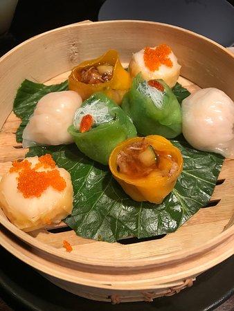 Hakkasan: Dim sum and salt and pepper squid