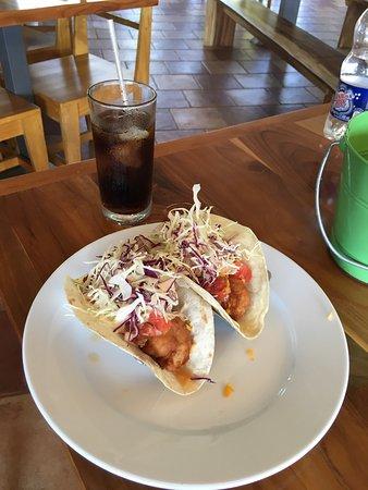 Ojochal, Costa Rica: Tacos de camarones!