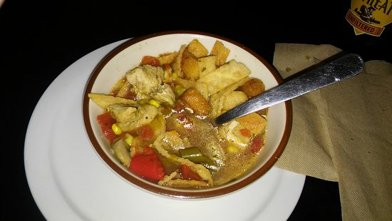 Badlands Saloon and Grille: White corn chicken tortilla soup by Kyle - YUM!