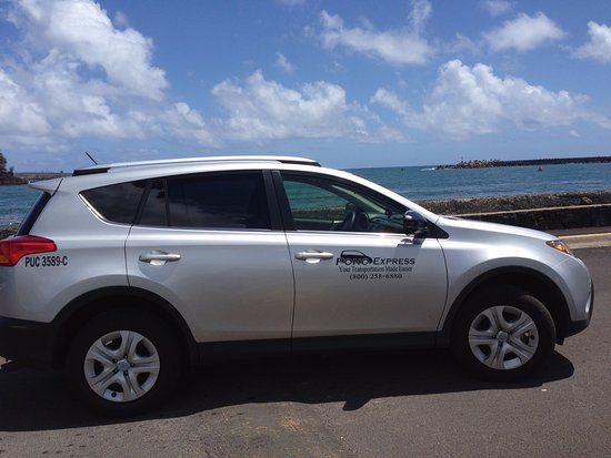 Lihue, Hawái: This is one of our Pono Express private car vehicles on Kauai.