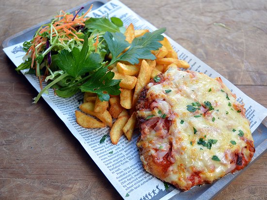 Our $14 Chicken Parmy