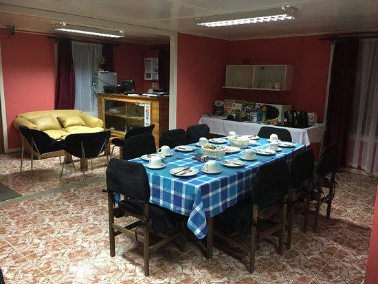 Hostal Forjadores del Cabo de Hornos: sala desayuno