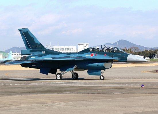 Toyoyama-cho, Japan: タキシングするF-2B とても近いです。