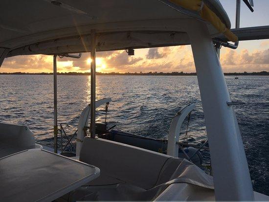 Riviere du Rempart: Sunset