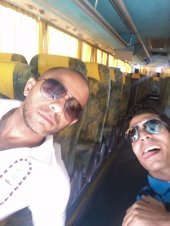 Sør-Sinai, Egypt: in bus with my indonesian groups