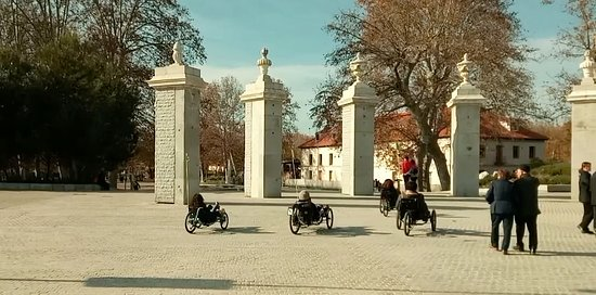 Community of Madrid, Spain: Entering the Casa de Campo through its redesigned gate