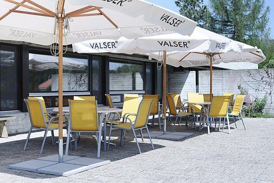 Sornetan, Schweiz: On the east sided terrace